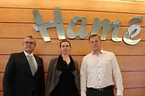 Prezident Hospodářské komory České republiky Vladimír Dlouhý v úterý 17. května zavítal do firmy Hamé.