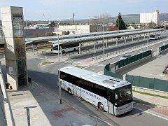 Dopravní terminál v Uherském Brodě.