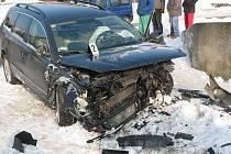 Na pomoc k nehodě dvou volkswagenů (VW) vyjeli v pátek ráno hasiči z Uherského Brodu.