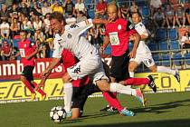 Václav Ondřejka vstřelil deset minut před koncem utkání vítězný gól Slovácka v utkání proti dánskému Viborgu.