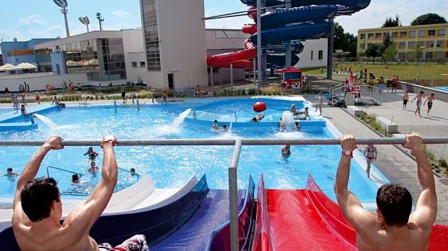 Aquapark v Uherském Hradišti. Ilustrační foto.