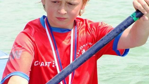 David Janík vybojoval v kategorii benjamínci na minikajaku krásné třetí místo.