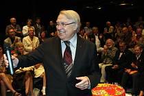 Pavel Kohout na svém narozeninovém představení v Divadle Husa na provázku.
