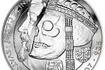 Relikvie Svatého Václava. Tato unikátní ražba od českého umělce Jaroslava Bejvla existuje v několika provedeních ze zlata i stříbra. Nechybí ani unikátní provedení reverse proof.