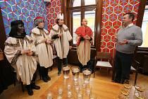Tříkrálová sbírka 2018 v Uherském Hradišti. oblatní Charita