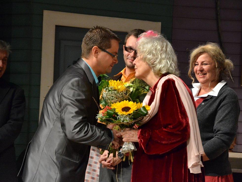 Květa Fialová přijímala gratulanty.