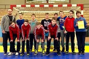 Starší žáci oddílu házené Slovácké Slavie Uherské Hradiště.