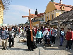 Živá křížová cesta na Velký pátek na Velehradě. Ilustrační foto.
