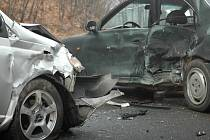 Dopravní nehoda u Starých Hutí na uherskohradišťsku.