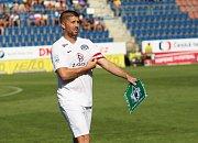 HET liga 1. kolo: 1. FC Slovácko - FK Jablonec. Na snímku Veliče Šumulikoski.