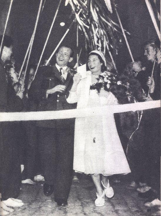Svatba v UH - slavobrána z oštěpů zlínských atletů