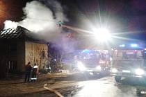Požár rodinného domu v Hostětíně.