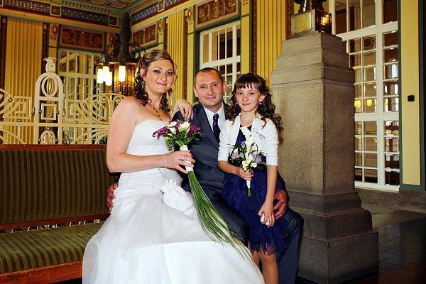 Soutěžní svatební pár číslo 152 - Gabriela a Petr Hrubanovi, Prostějov