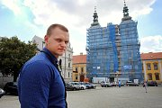 Oprava fasády kostela sv. Františka Xaverského v Uherském Hradišti.