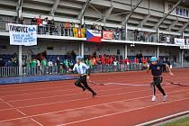 Hasičské soutěže o titul mistra republiky v požárním sportu v Uherském Hradišti