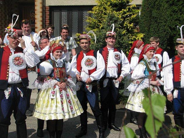 Hodové veselí v Dolním Němčí.