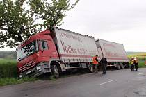 Dopravní nehody v Chřibech.