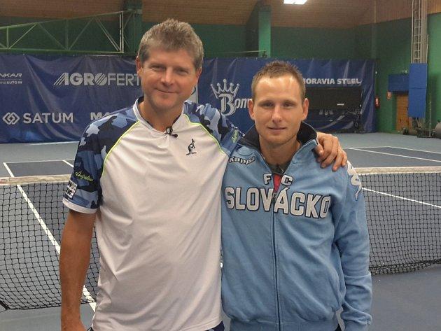 Jiří Valenta (vpravo) s Jiřím Novákem.