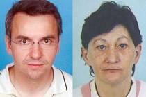 Pohřešovaní Ivo Sterzik a Dana Koželuhová.