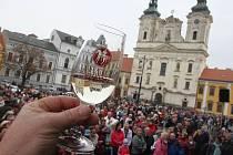 Přípitek při obřadu žehnání svatomartinských vín