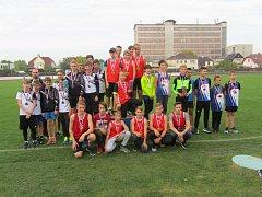 Atleti Slovácké Slavie Uherské Hradiště ovládli Mistrovství Moravy a Slezska mladších žáků.