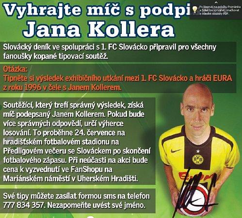 Vyhrajte míč spodpisem Jana Kollera.