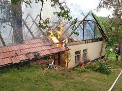 Požár ve Stříbrnicích.