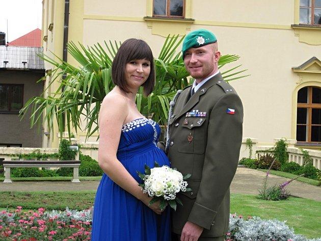 Soutěžní svatební pár číslo 125 - David a Michaela Polcerovi, Lipník nad Bečvou.