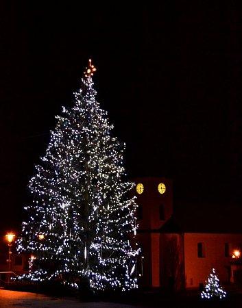 Vánoční strom ve Starém Hrozenkově.