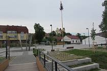 Náměstí v Bojkovicích.