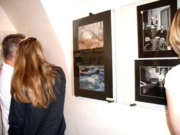 Vernisáž výstavy Sdružení výtvarných umělců Moravsko-slovenského pomezí (SVUMSP) v Galerii Panský Dům v Uherském Brodě.