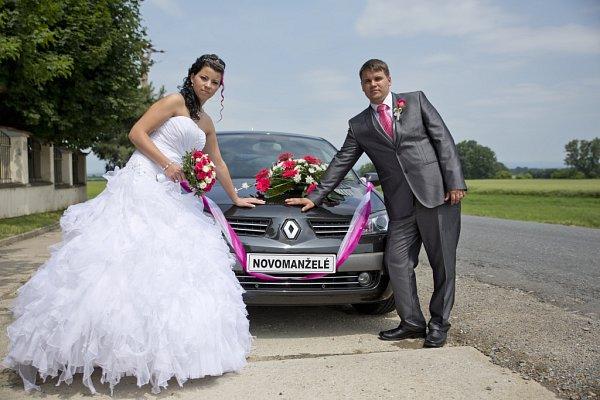 Soutěžní svatební pár číslo 128 - Petra a Martin Vanderkovi, Huštěnovice.