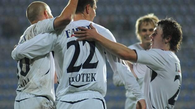 Radost fotbalistů Slovácka