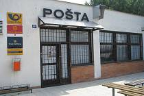Pošta v Topolné, kde došlo k loupežnému přepadení.