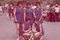 Pašovické ženy na spartakiádě v Praze v roce 1975