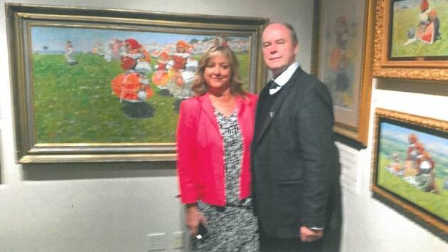 Výstava obrazů Joži Uprky v USA očima Moravana Petra Vašáta.