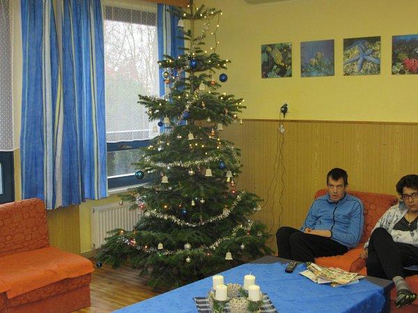 Vánoční strom vDomově pro osoby se zdravotním postižením vUh. Brodě.