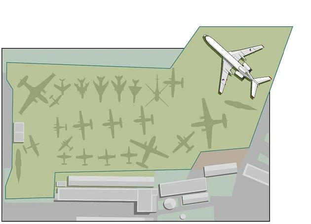 Kunovice schválily kvůli důstojnému umístění naganského expressu uvolnění dalších pozemků pro exponáty Leteckého muzea.