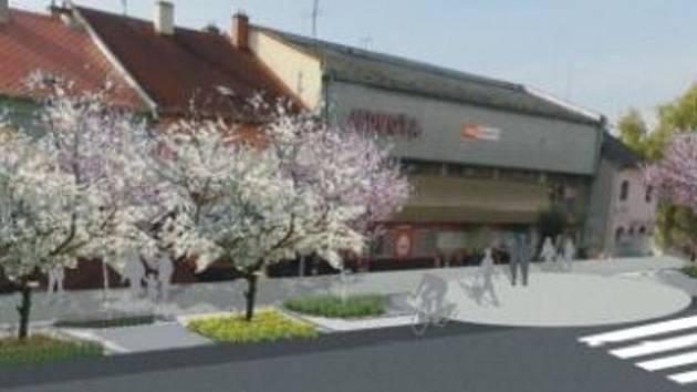 Vítězný návrh možné podoby náměstí v Hluku je dílem studentů Slovenské polnohospodářské univerzity v Nitře.
