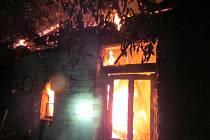Požár rodinného domu v Jankovicích