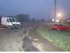 Nehoda u Uherského Brodu.