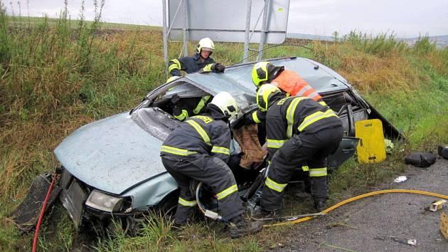 Vrtulník záchranné služby musel ve čtvrtek 11. srpna zasahovat nedaleko Bánova.