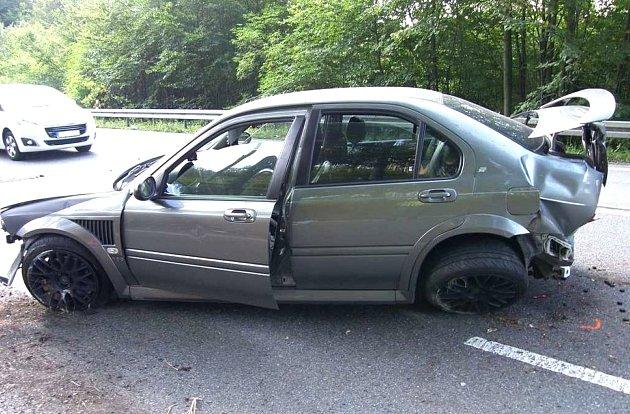 V pátek 8. září odpoledne havaroval v Chřibech dvacetiletý řidič vozidla značky MG.