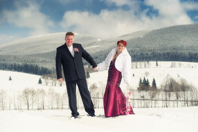 Soutěžní svatební pár číslo 61 - Jitka a Michal Kořínkovi, Hranice.