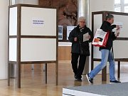 Parlamentní volby 2017 na základní škole v Holzově ulici v Brně-Líšni.