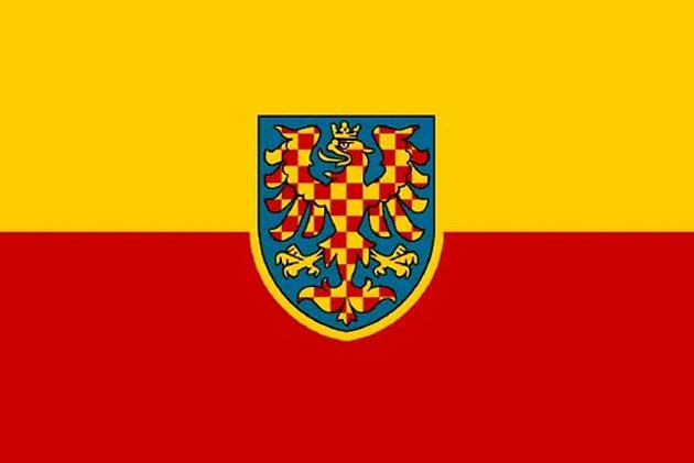 Jedna zvariant Moravské vlajky.