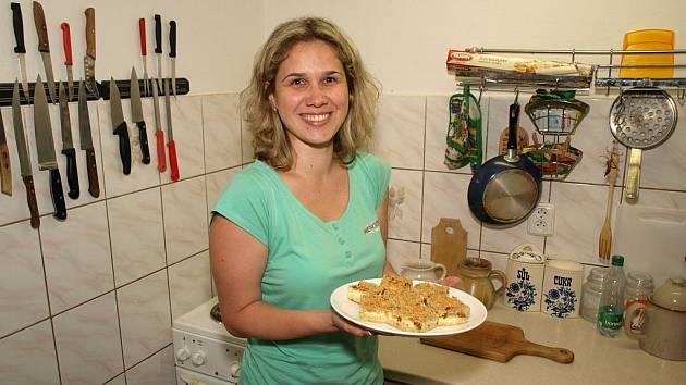 Petra Grebeníčková prozradila rodinný recept na drobenkový koláč.