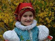 Dítě Slováckých novin pro rok 2013 - 1. místo: Julinka Balajková, Vlčnov.