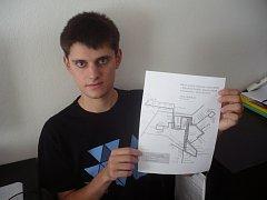 Student Jan Kolařík překvapil zástupce ČSAD promyšlenou koncepcí městské hromadné dopravy