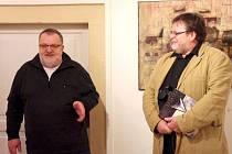 Vernisáž výstavy Jiřího Salajky v Galerii Panský dům v Uherském Brodě